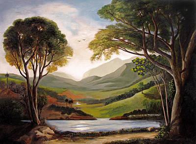 Atardecer En El Lago Dos Bocas Original by Ben  Morales-Correa