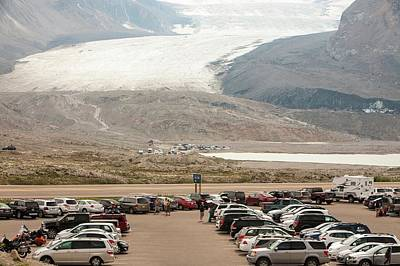 Athabasca Glacier Is Receding Rapidly Print by Ashley Cooper