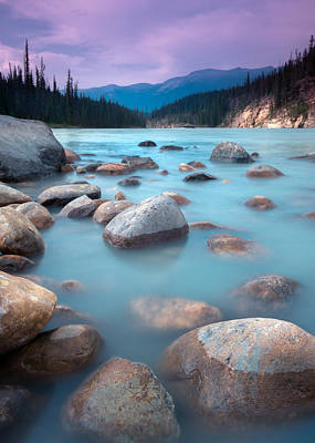 Athabasca Rocks Print by Cale Best