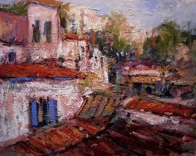 Rooftops Painting - Athenian Rooftops by R W Goetting