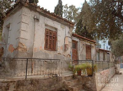 Greek Photograph - Athens Street Ruin by Deborah Smolinske