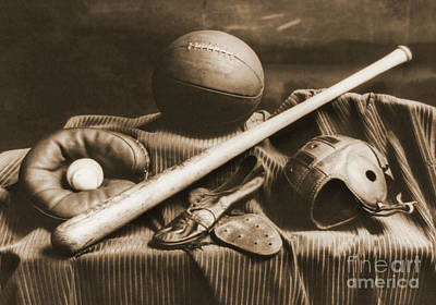 Athletic Equipment 1940 Print by Padre Art