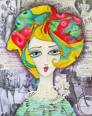 Hairdo Mixed Media - Athletically Challenged by Joann Loftus