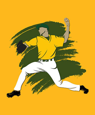 Athletics Shadow Player3 Print by Joe Hamilton