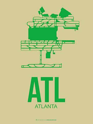 Atl Atlanta Airport Poster 1 Print by Naxart Studio