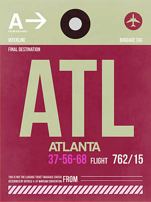 Atlanta Airport Poster 2 Print by Naxart Studio