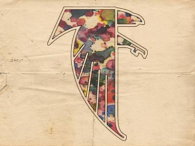 Falcon Digital Art - Atlanta Falcons Logo Vintage by Florian Rodarte