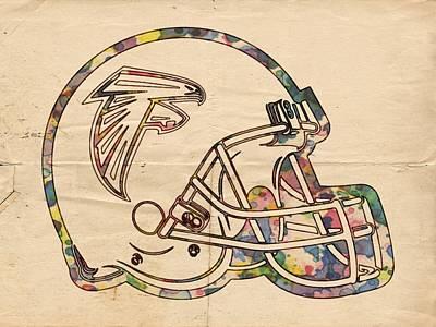 Falcon Digital Art - Atlanta Falcons Poster Art by Florian Rodarte