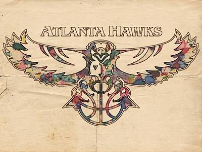Hawk Digital Art - Atlanta Hawks Poster Vintage by Florian Rodarte