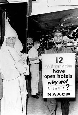 Sixties Photograph - Atlanta Segregation Opposites by Underwood Archives