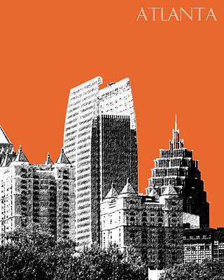 Atlanta Skyline 2 - Coral Print by DB Artist
