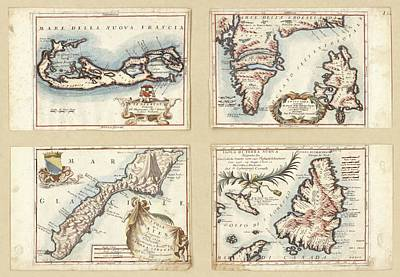 Atlantic And Arctic Islands Print by Library Of Congress, Geography And Map Division