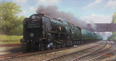 Atlantic Coast Express Print by Mike  Jeffries
