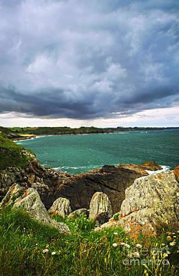 Atlantic Coastline In Brittany Print by Elena Elisseeva