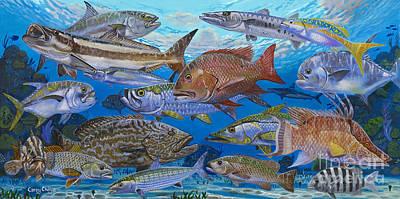 Atlantic Inshore Species In0013 Print by Carey Chen