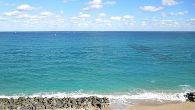 Galleries On Line Photograph - Atlantic Ocean In South Florida by Ron Davidson