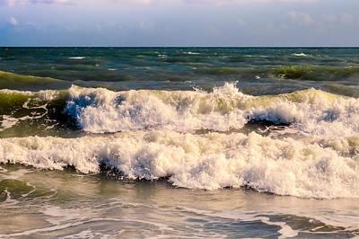 Love Photograph - Atlantic Ocean Waves by Zina Stromberg