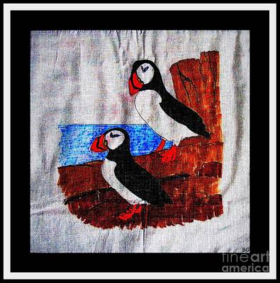 Puffin Drawing - Atlantic Puffins by Barbara Griffin