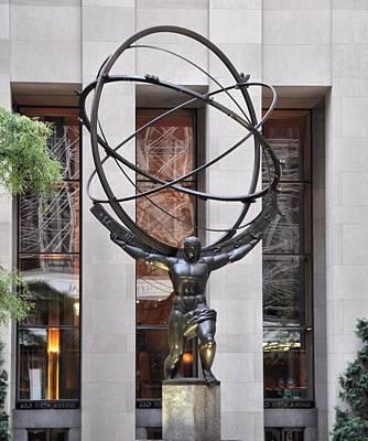 Atlas Bronze Statue At Rockefeller Center Original by Dan Sproul