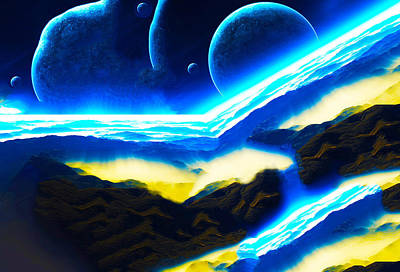 Solar Eclipse Digital Art - Atmospheres by Bruce Iorio