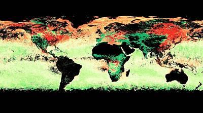 Atmospheric Aerosol Distribution Print by Reto Stockli/nasa's Earth Observatory/modis Atmosphere Science Team/goddard Space Flight Center