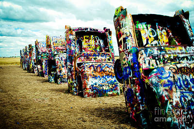 Amarillo Texas Photograph - Atomic Cadillacs by Sonja Quintero
