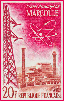 Pylon Painting - Atomic Centre Marcoule by Lanjee Chee