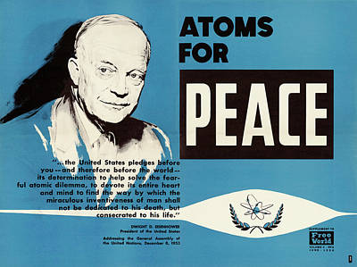 Atom Photograph - Atoms For Peace Speech by Us National Archives