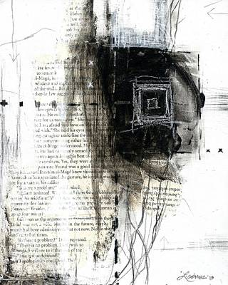 Negro Mixed Media - Atrapada -trapped - The Series -black And White Abstract  by Laura  Gomez