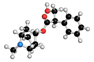 Chemical Photograph - Atropine Alkaloid Molecule by Molekuul