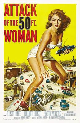 Attack Of The 50 Ft Woman Poster Print by Gianfranco Weiss