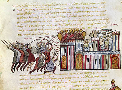 Byzantine Painting - Attack On Constantinople by Granger