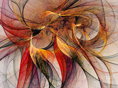 Attempt To Escape-abstract Art Print by Karin Kuhlmann