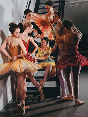 Ballet Painting - Attitude by Julia O'Malley-Keyes