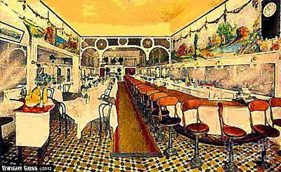 Venice Ca Painting - Atwood's Restaurant In Venice Ca In 1920 by Dwight Goss