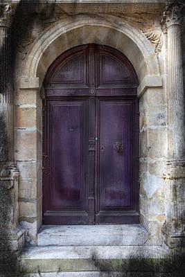 Aubergine Doorway Paris Print by Evie Carrier