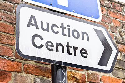 Auction Centre Print by Tom Gowanlock