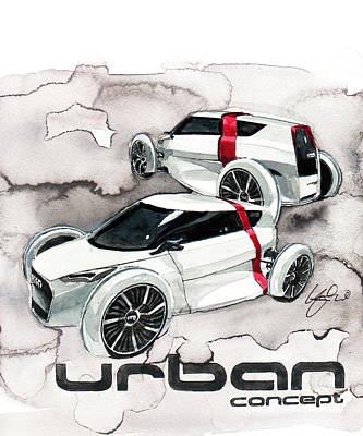 Concept Painting - Audi Urban Concept by Yoshiharu Miyakawa