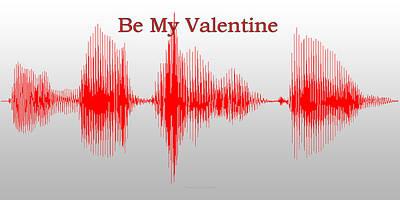 Be My Valentine Digital Art - Audio Art Be My Valentine by Thomas Woolworth