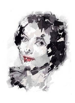 Audrey Hepburn Mixed Media - Audrey Expressionism by Steve K