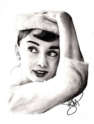 Audrey Hepburn Drawing - Audrey Hepburn 2 by Rosalinda Markle