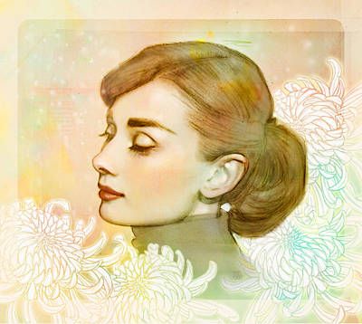 Audrey Hepburn Digital Art - Audrey Hepburn by Catherine Noel
