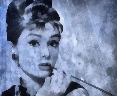 Audrey Hepburn Mixed Media - Audrey Hepburn by Dan Sproul