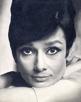Audrey Hepburn Drawing - Audrey Hepburn by Erin Mathis