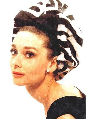 Audrey Hepburn Photograph - Audrey Hepburn In Watercolor by Gianfranco Weiss