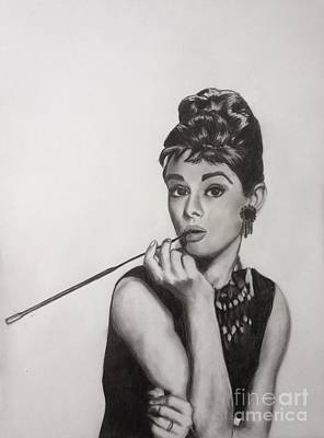 Audrey Hepburn Drawing - Audrey Hepburn by Michael Durocher