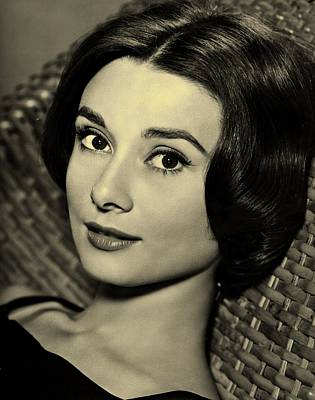 Cabin Wall Photograph - Audrey Hepburn  by Movie Poster Prints