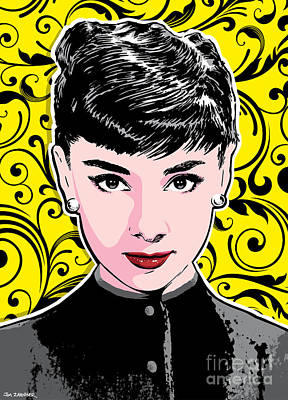Tiffany Digital Art - Audrey Hepburn Pop Art by Jim Zahniser