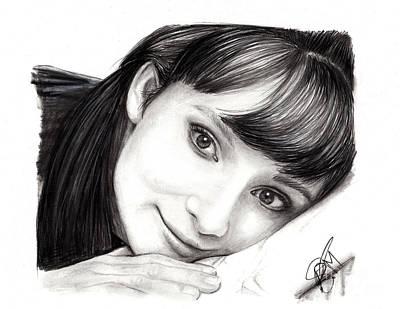 Markle Drawing - Audrey Hepburn by Rosalinda Markle