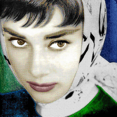 Audrey Hepburn Mixed Media - Audrey Hepburn by Tony Rubino